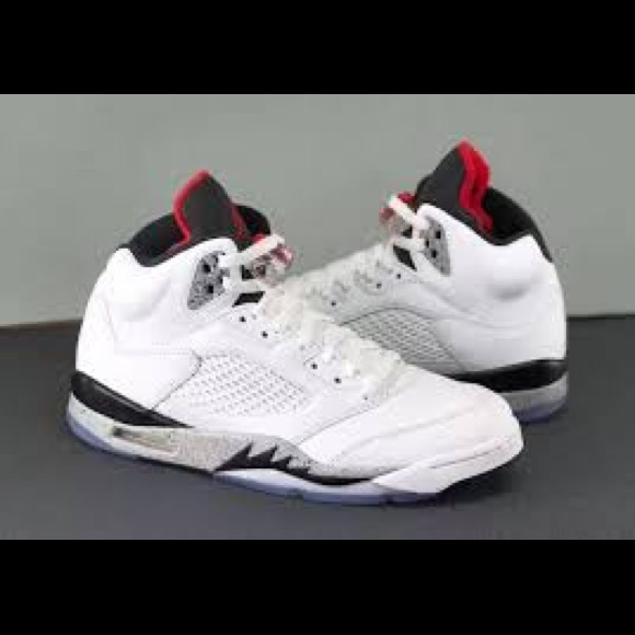 a6bc73791851 Nike Air Jordan 5 retro White Cement